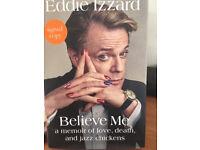Eddie Izzard Believe Me orginal signed copy