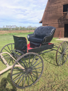 Antique Horses Drawn Buggy