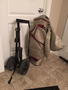 Founders club golf bag and cart
