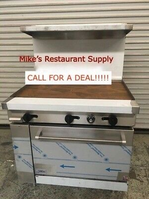 New 24 Griddle Flat Range Gas Oven Stratus Sr-g24 7226 Commercial Restaurant