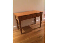 """Small Pine Two Draw Childrens table. Only 25"""" high, Ideal for Playroom etc."""