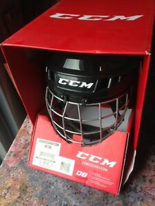 NEUF !! Casque de Hockey noir CCM HT06 - MEDIUM- 150 \185 lbs
