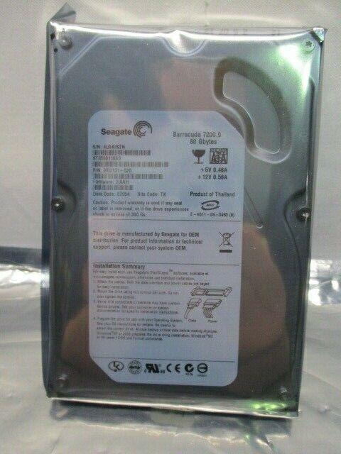 Seagate Barracuda 7200.9 Hard Drive, 80 GB, ST3808110AS, 9BD131-525, 100315