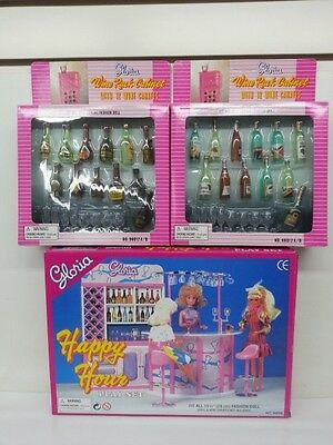 Gloria, Barbie Size Doll Furniture/ Happy Hour & Wine Cabinet Play Set
