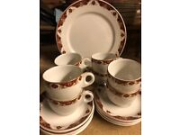 Maddox Tableware - Coffee Cups, Plates, Sugar Holders