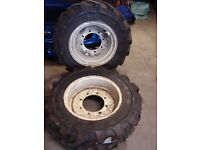 Pair of Tractor wheels and tyres new unused 275/80rx20 michelin manitou unimog