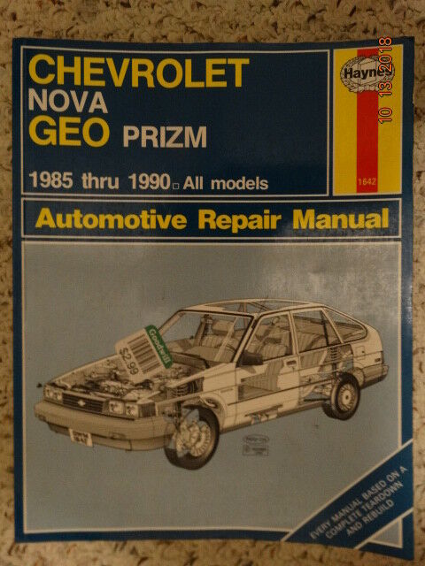 Haynes Repair Manual: Chevrolet Nova Geo Prizm 1985 thru 1990 All models