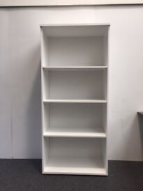 White Office Bookcase/Bookshelf 1800mm High with 3 Adjustable Shelves