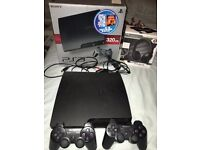 PS3 Slim console and games 320GB