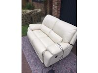 Leather Sofa with Electric Reclining Controls