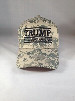 Make America Great Again Donald Trump Hat Digital Camo Tan Cap Structured MAGA