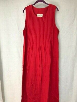 Vermont Country Store Sleeveless Jumper Style Red (Store Fashion)
