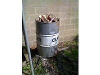 allottie incinerator full of pallet wood