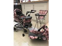 Toy Pram, High Chair, Doll Carrier, and Travel Umbrella- Mamas and Papas