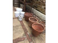 Assorted plant and garden pots for outdoor and indoor