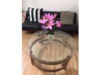 Mid Century retro Danish / G plan style glass top coffee table
