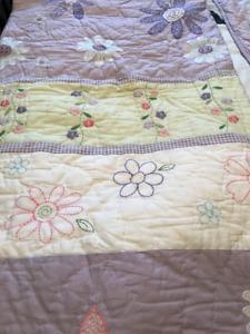 Pottery Barn Kids/ Girls Daisy Garden Quilt and Pillow Sham