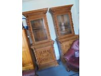 pair of victorian bookcases in victorian house botanic