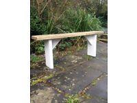 Reclaimed wooden plank Garden bench