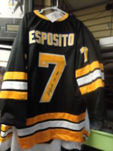 Phil Esposito Autographed Bruins Jersey JSA at Slapshot!
