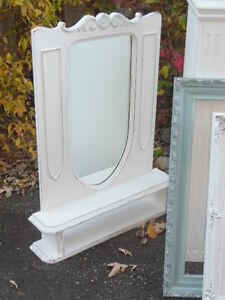 a painted, wood hall mirror with a shelf London Ontario image 1