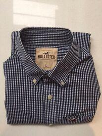 Hollister Blue check shirt