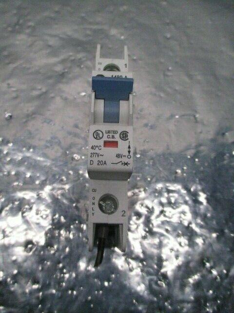 Allen-Bradley 1489-A1D200 Circuit Breaker, AB-5321, 1 Pole, 277V, 48V,20A,100572