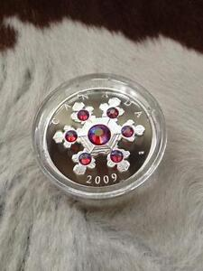 Canadian Silver Coin Snowflake Crystal - Flocon de cristal