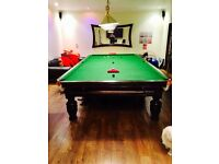 FULL SIZE BURROUGHES & WATTS SNOOKER TABLE - HARDLY USED *ONLY £600 for FULL SET*
