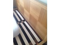 Michigan Oak Storage Bed King Size From M&S - With Mattress - All Excellent & Clean Condition