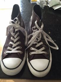 Converse boots burgandy leather