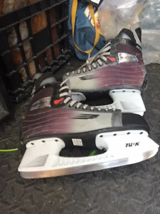 Vapor Tuuk Size 11 mens Bauer Paid $175 can tire last year.