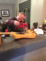 Guitar repairs and service, Ont., Canada