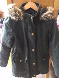 Girls New Look Parker Winter Coat Age 9