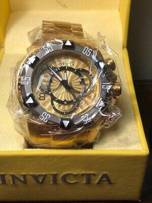Invicta Watch 24266 Excursion 52mm SS/Titanium Gold Tone Quartz Chrono NEW