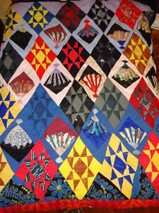 Quilt / Bedspread, Home Made, Titled Fans & Shields
