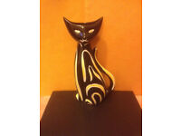 1956 Mid-Century Rare TIGRIS CAT VASE No. 4130-Mint Condition by Anneliese Beckh
