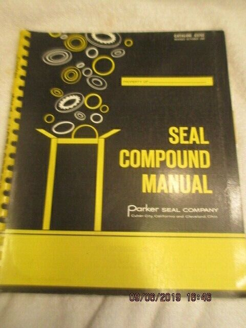 Parker Rubber Seal Company Vintage 1968 Catalog Compound Manual Book Elastomers