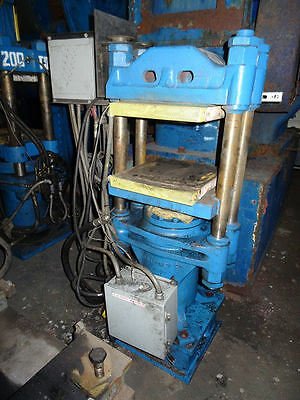 62.8 Ton Fh Maloney 4 Post Molding Press 16 X 16 Electrically Heated Platens