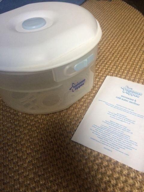 Microwave/cold water steriliser tommee tippee