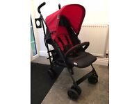 Hauck Speed Pushchair stroller buggy - ex display - red & black