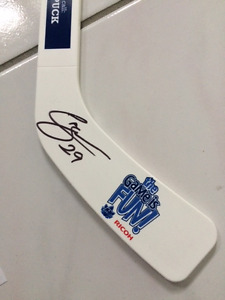 Connor Brown signed Marlies Mini Stick with collectible poster