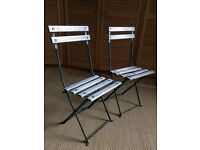 French Folding Garden Chairs (pair)