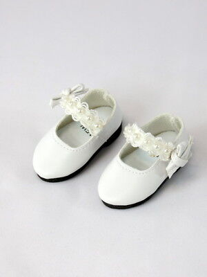 White Lace And Pearls Dress Shoes Fits Wellie Wisher 14.5
