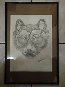Psychedelic Puppy Pencil Drawing