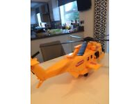 Plastic toy rescue helicopter