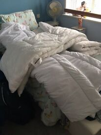 3 used Double size duvets - free but must be able to collect from Barwell
