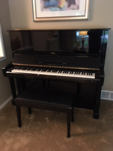 Samick Ebony Upright Piano - Very excellent condition