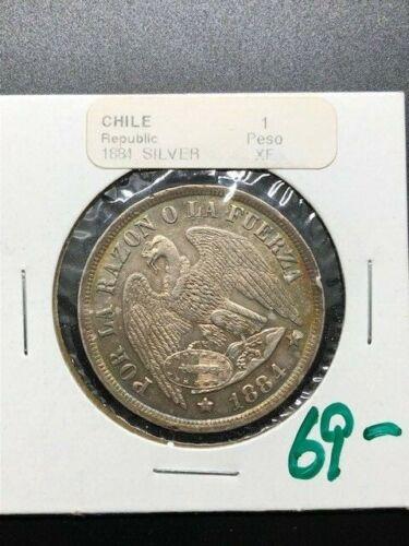 1884 - Chile - 1 Peso - XF
