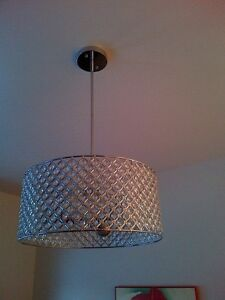 Modern stainless steel chandelier